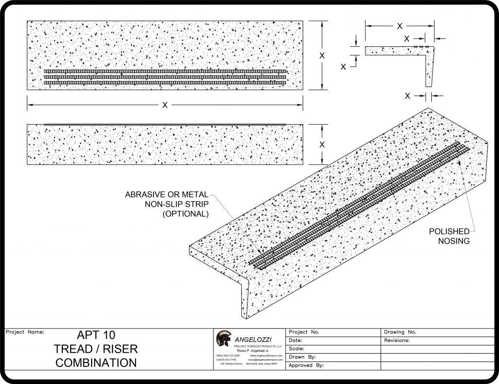 Website Drawings Tread Riser Combination