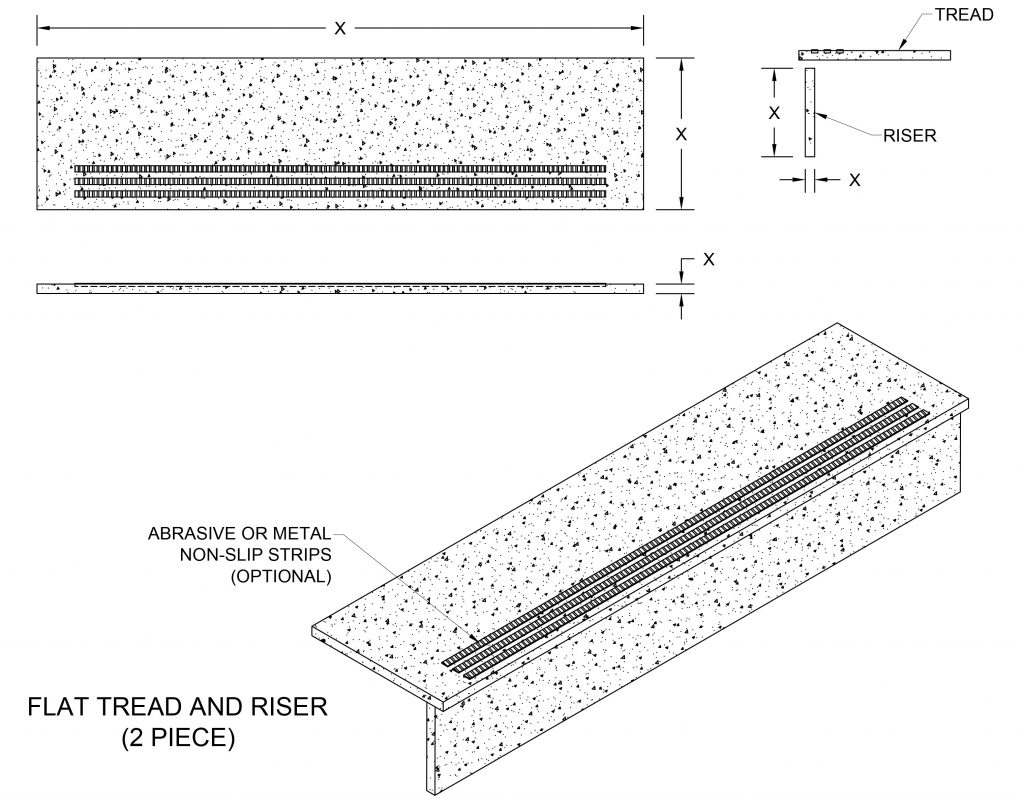 Drawings Flat Tread & Riser